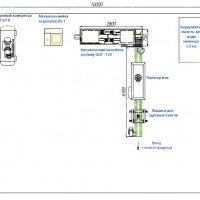 Лінія розливу бутильованої води продуктивністю 120 бут/год